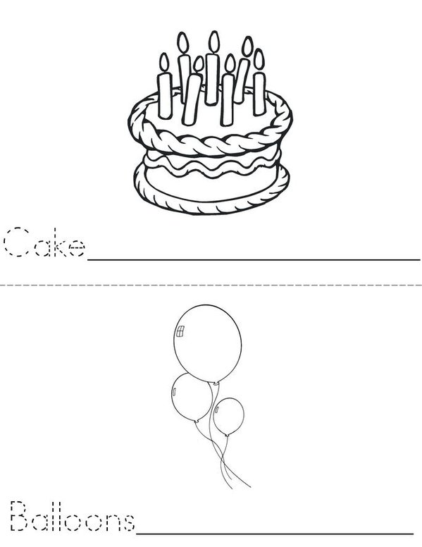 Birthday Mini Book - Sheet 1