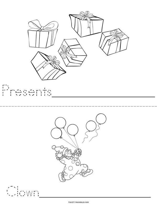 Birthday Mini Book - Sheet 2