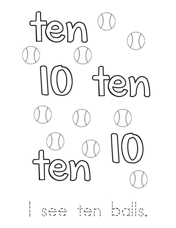 Ten Mini Book - Sheet 2