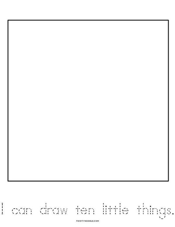 Ten Mini Book - Sheet 6