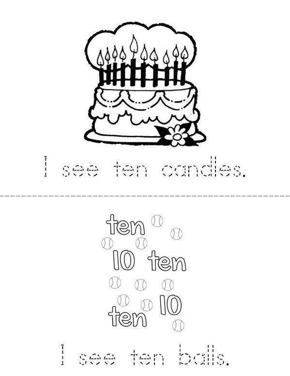 Ten Mini Book - Sheet 1