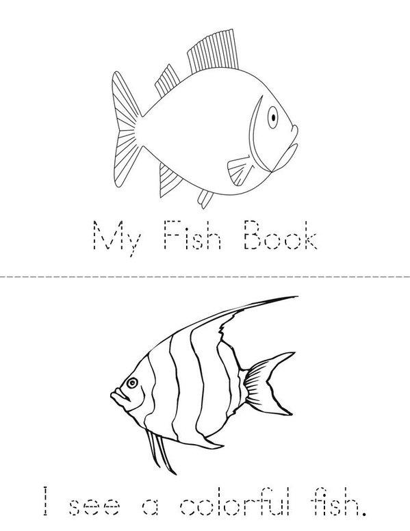 My Fish Mini Book - Sheet 1