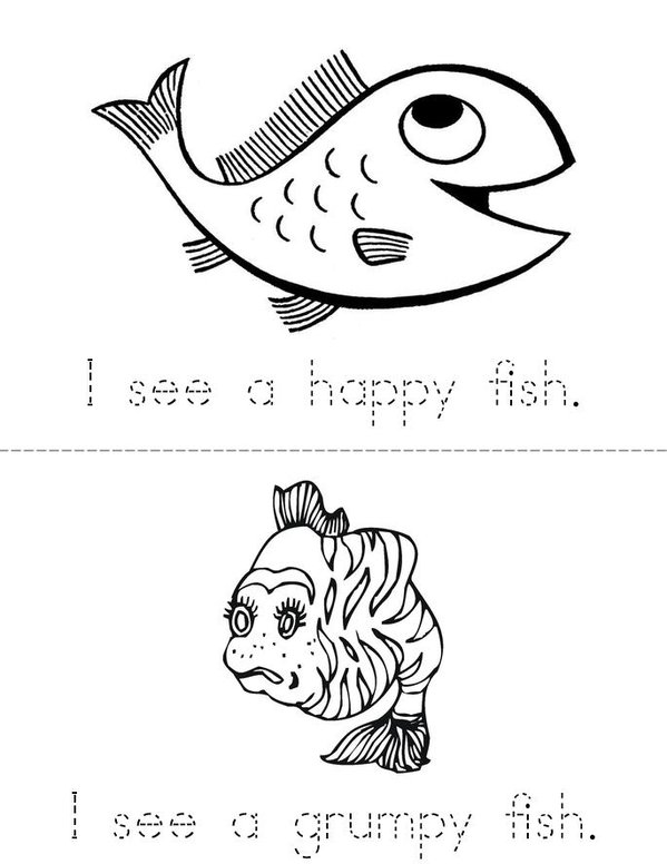 My Fish Mini Book - Sheet 2