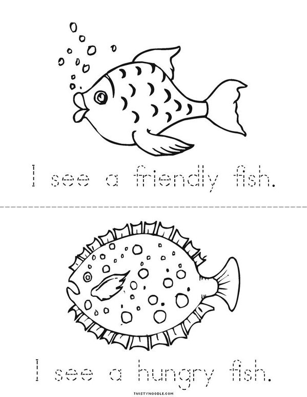 My Fish Mini Book - Sheet 3