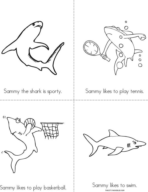 Sammy the Shark Mini Book