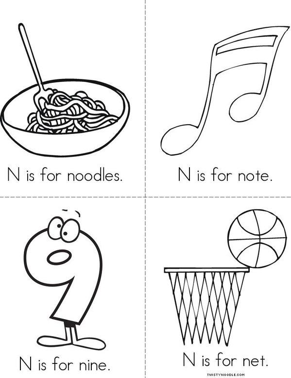 N is for... Mini Book - Sheet 2