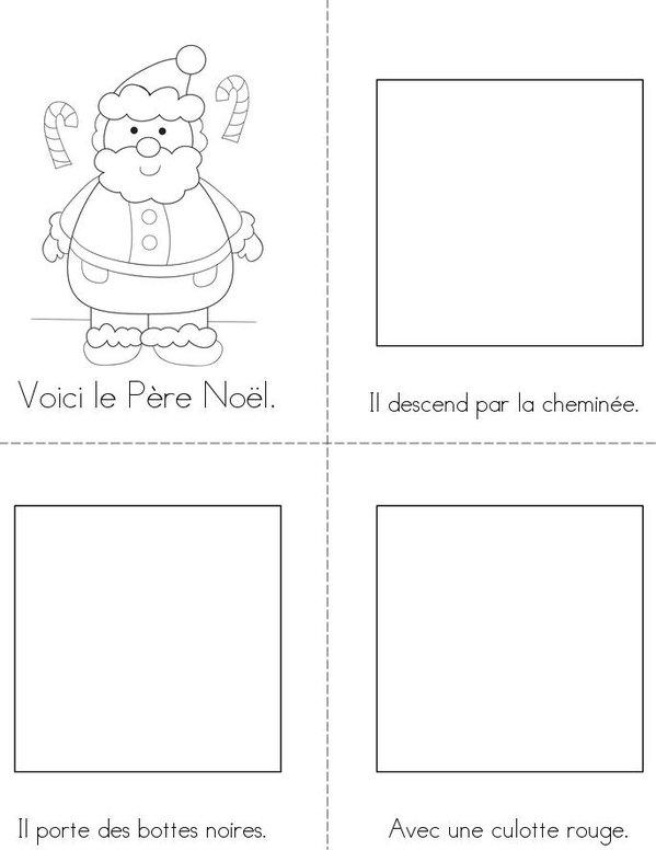 Le Père Noël Mini Book - Sheet 1