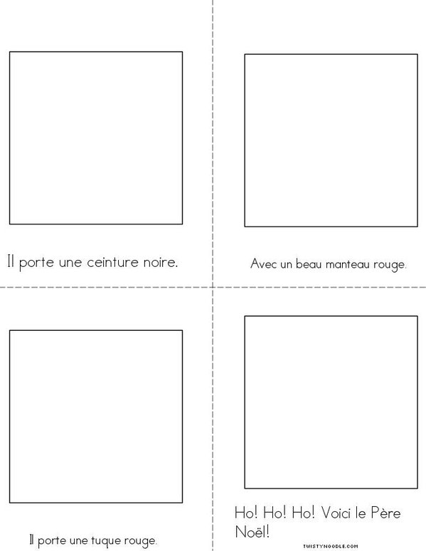 Le Père Noël Mini Book - Sheet 2