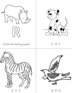Animal Words Book