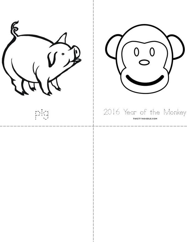 Chinese Zodiac Mini Book - Sheet 4