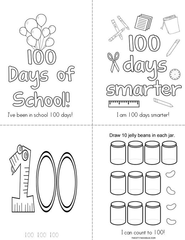 100 Days Smarter! Mini Book
