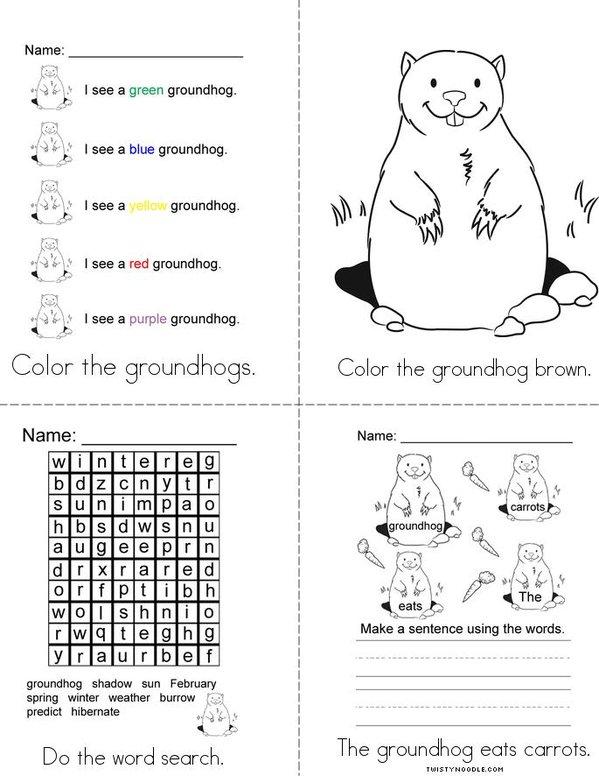 Groundhog Mini Book - Sheet 2