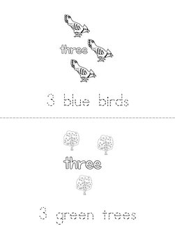 I Can Count Three! Book