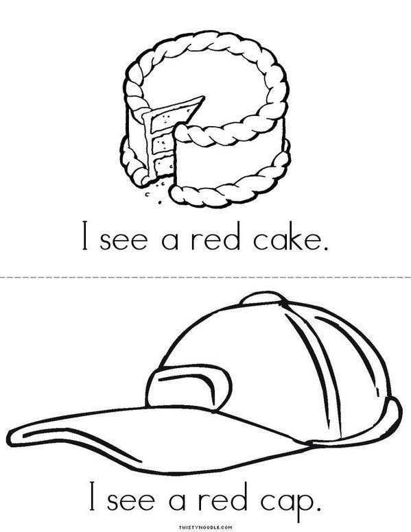 I See a Red Cat Mini Book - Sheet 2