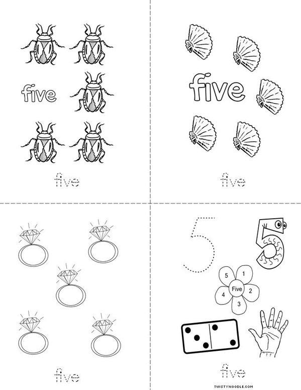 Trace the Word Five Mini Book
