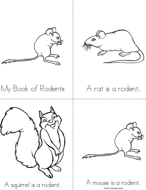 My Book of Rodents Mini Book