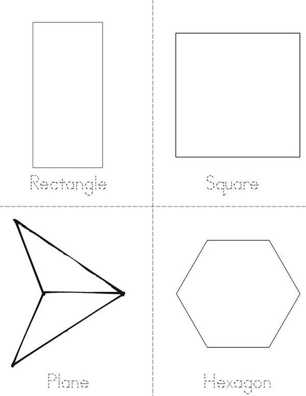 My Mini Shape Book Mini Book - Sheet 2