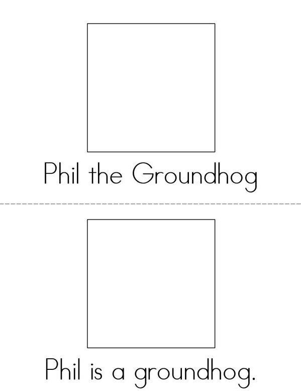 Phil the Groundhog Mini Book - Sheet 1