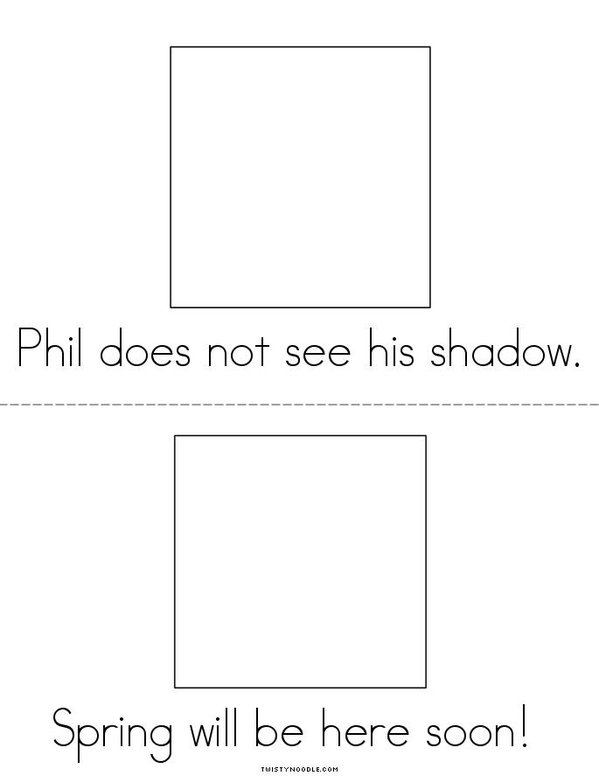 Phil the Groundhog Mini Book - Sheet 3