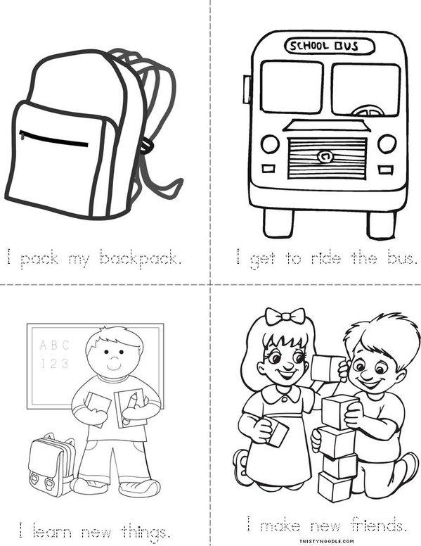 Back to School Mini Book