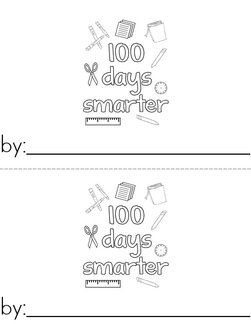 100th Day of Kindergarten Book