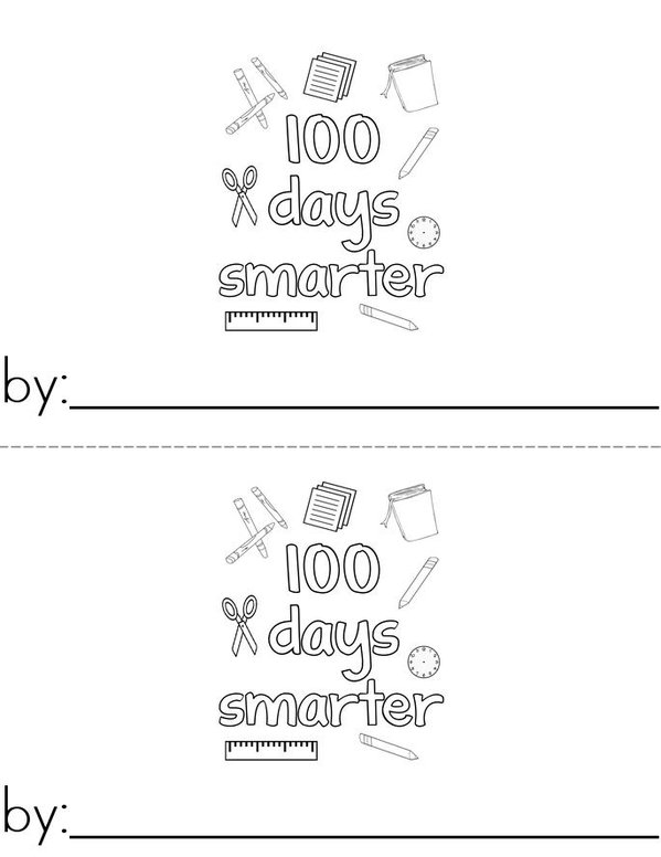 100th Day of Kindergarten Mini Book - Sheet 1