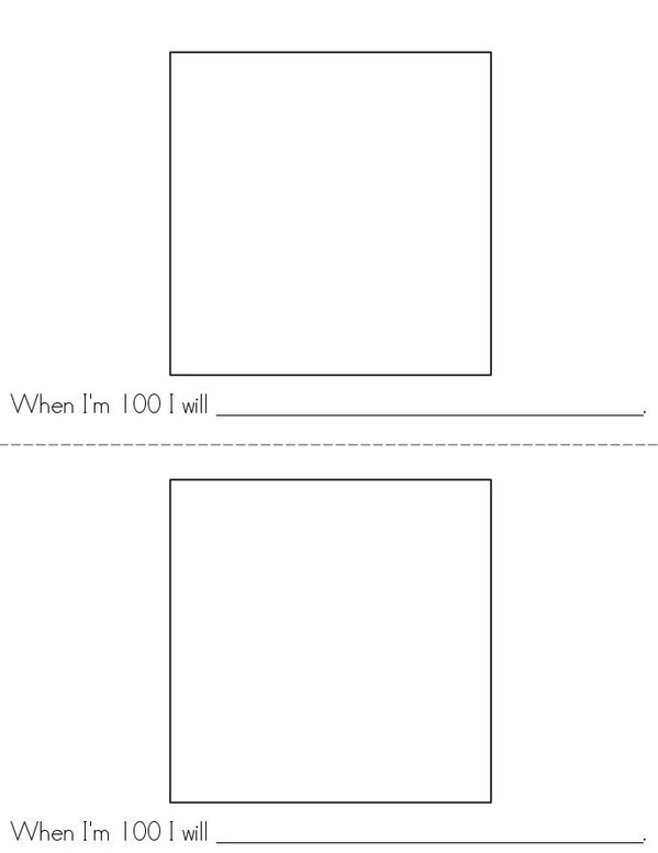 100th Day of Kindergarten Mini Book - Sheet 2