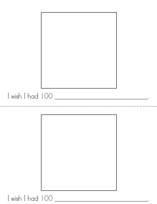 100th Day of Kindergarten Mini Book - Sheet 4