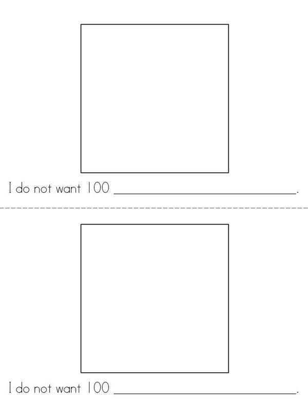 100th Day of Kindergarten Mini Book - Sheet 5