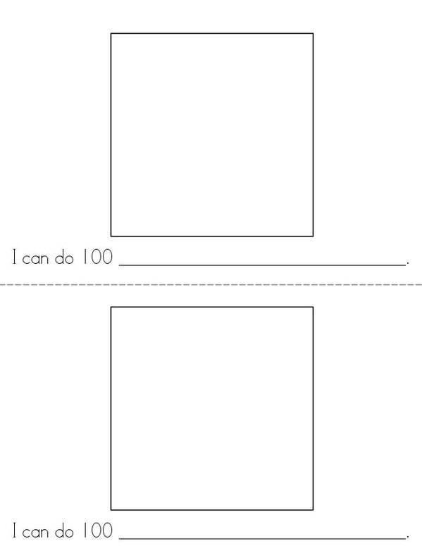 100th Day of Kindergarten Mini Book - Sheet 6