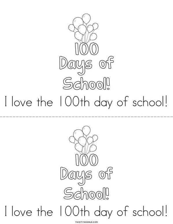 100th Day of Kindergarten Mini Book - Sheet 8