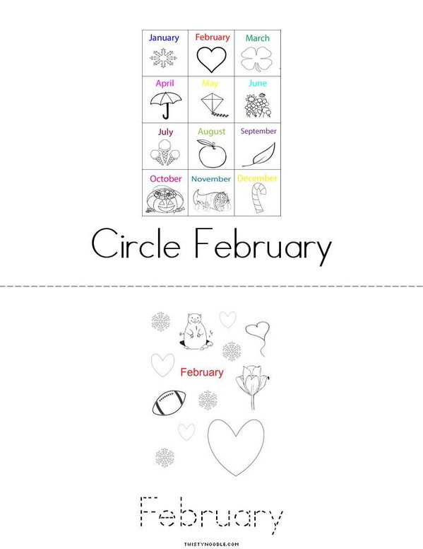 February Mini Book - Sheet 2