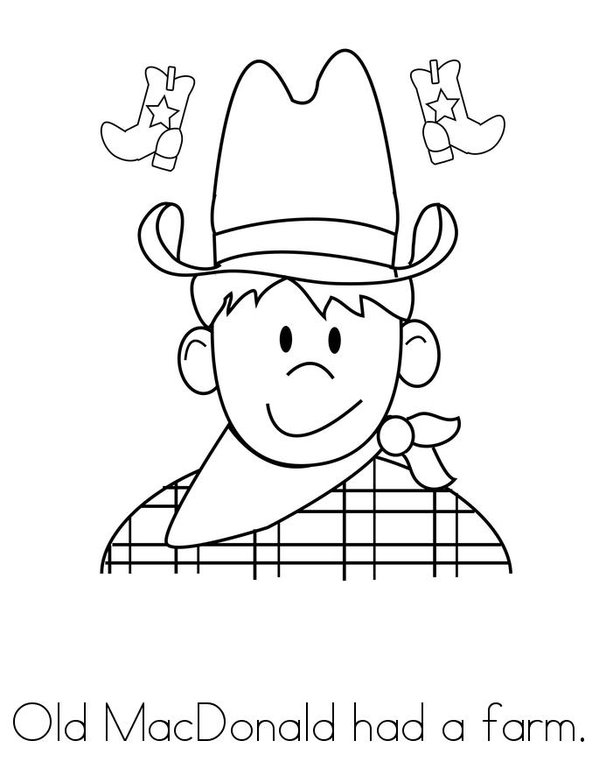 free mcdonalds coloring pages | Old MacDonald Book - Twisty Noodle