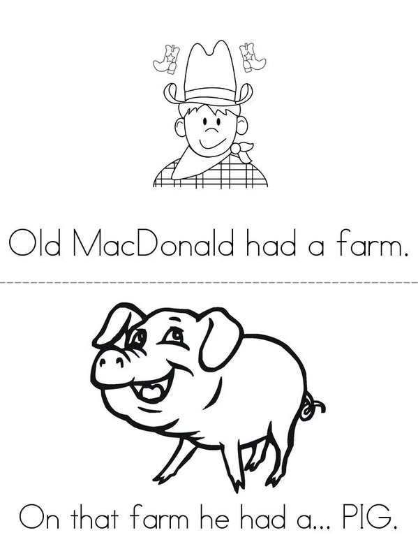 Old MacDonald Mini Book - Sheet 2