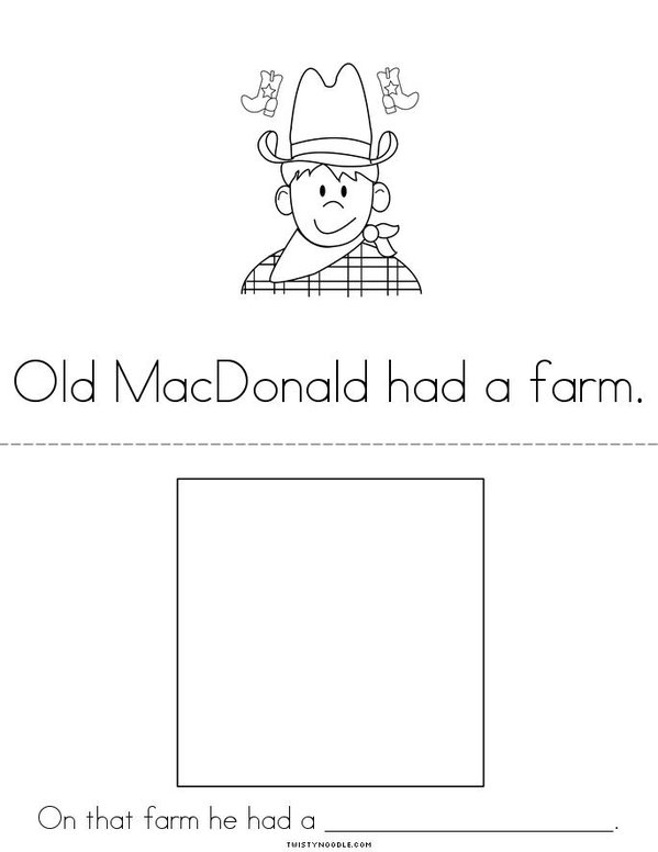 Old MacDonald Mini Book - Sheet 4