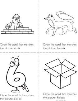 Circle the correct X Word Book