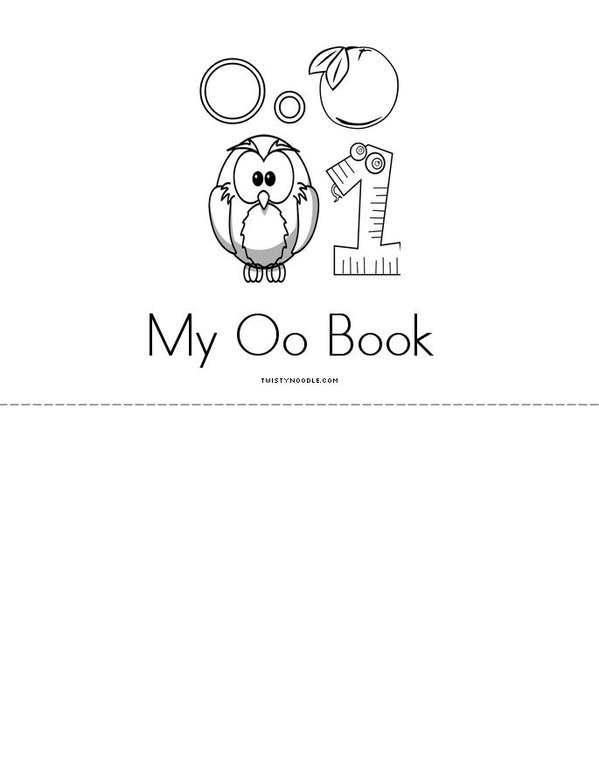 O is for... Mini Book - Sheet 3