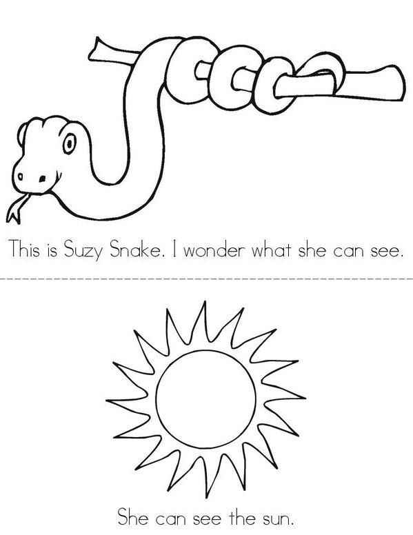 Suzy Snake Mini Book - Sheet 1