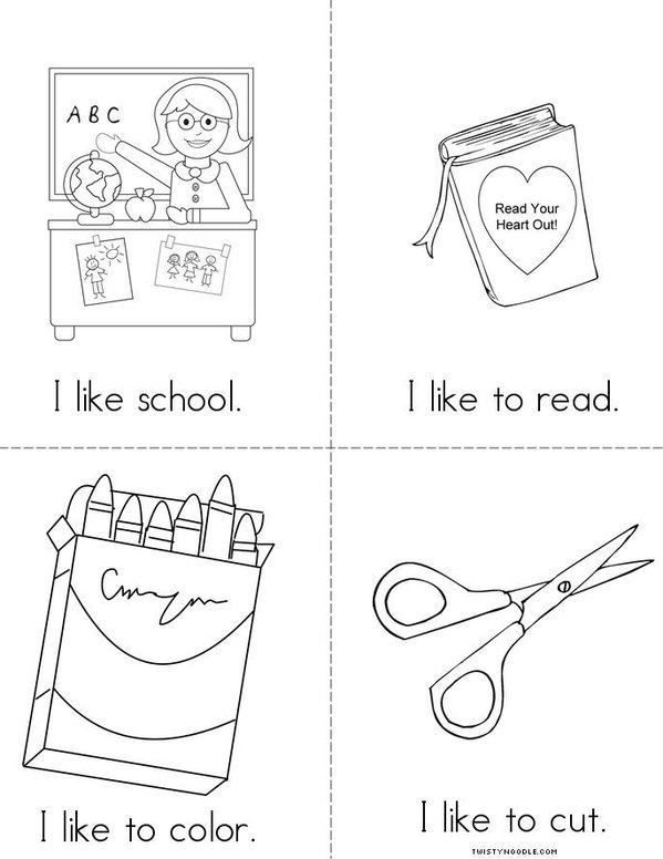 I Like School! Mini Book