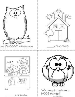 Look Whooo's in Kindergarten Book