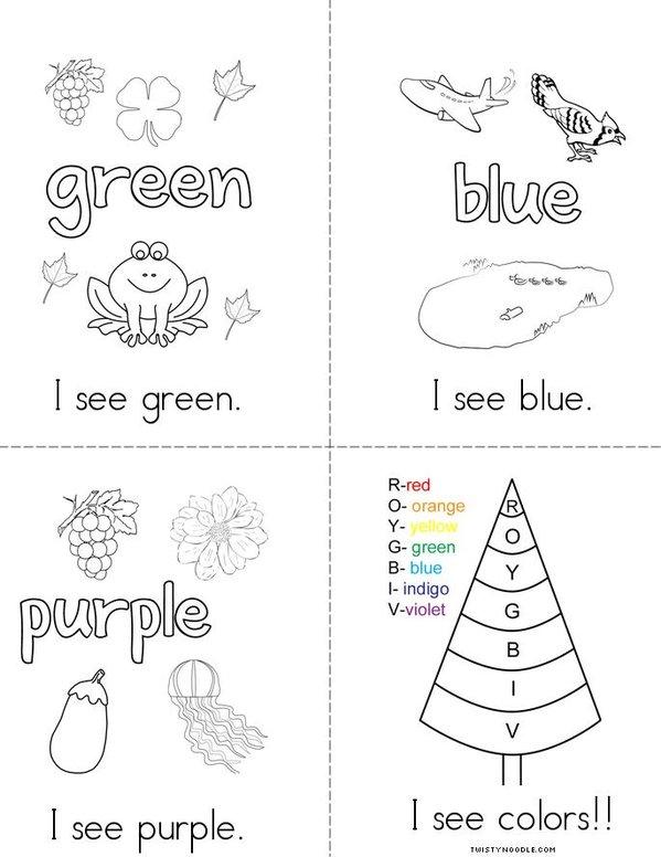 Rainbows Mini Book - Sheet 2