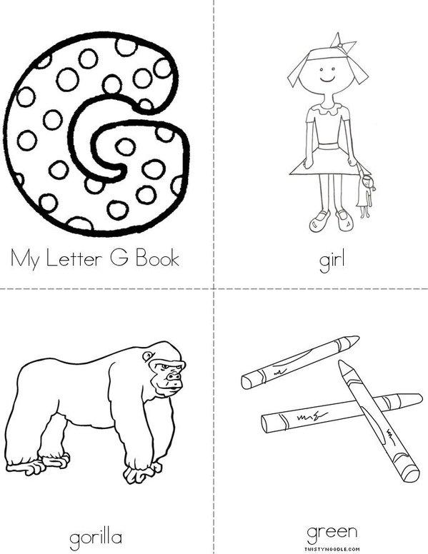letter G Book Mini Book