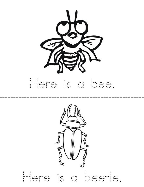 Bug Book Mini Book - Sheet 2