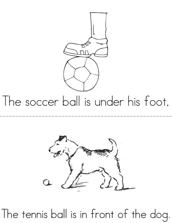 A Book of Balls Mini Book - Sheet 1