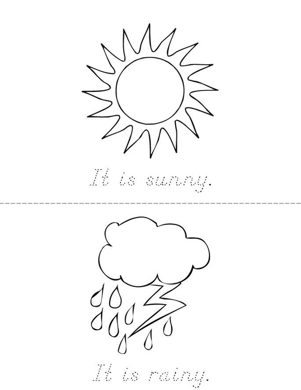 Weather Mini Book - Sheet 1