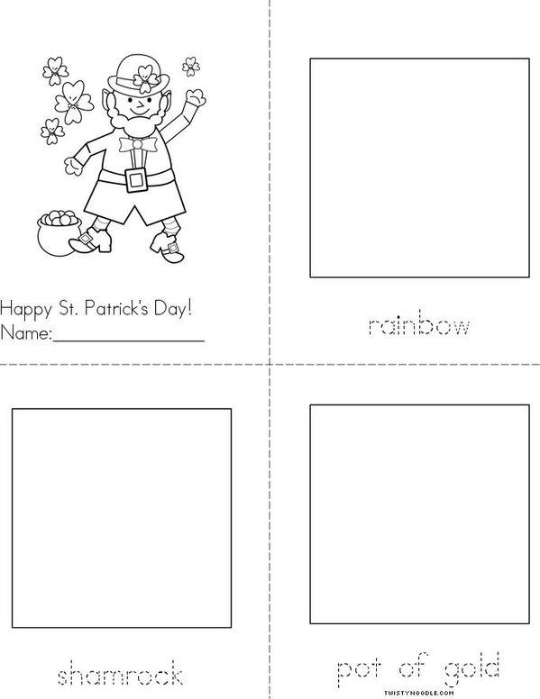 My St. Patrick's Day Picture Book Mini Book