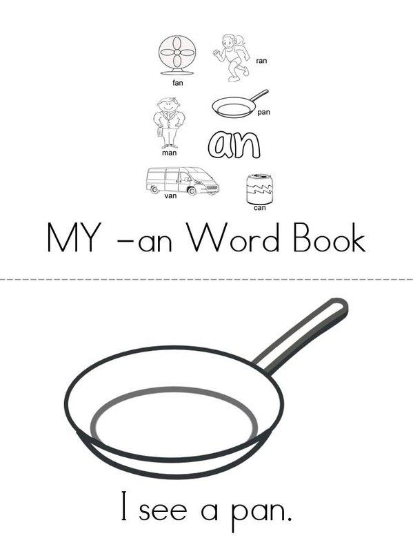 My -an Book Mini Book - Sheet 1