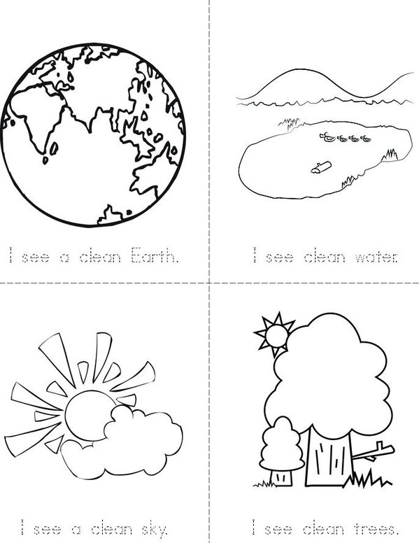 Earth Recycling Mini Book - Sheet 1