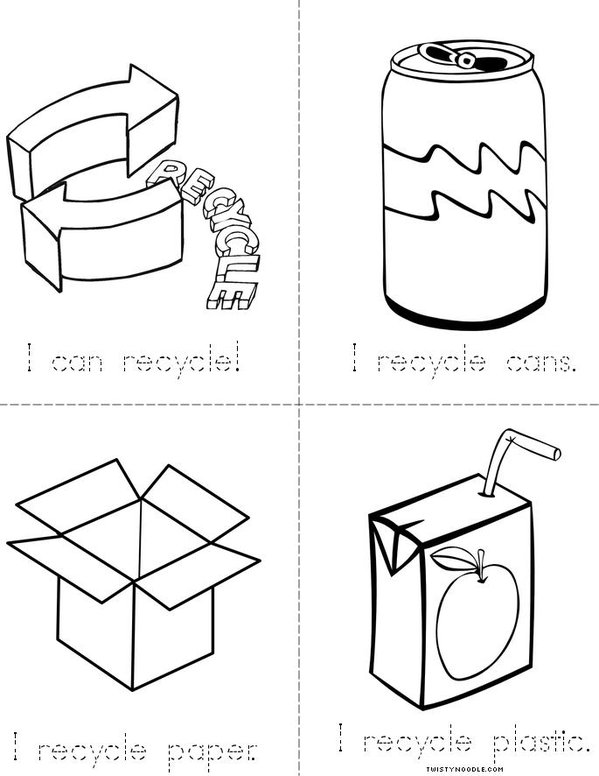 Earth Recycling Mini Book - Sheet 2