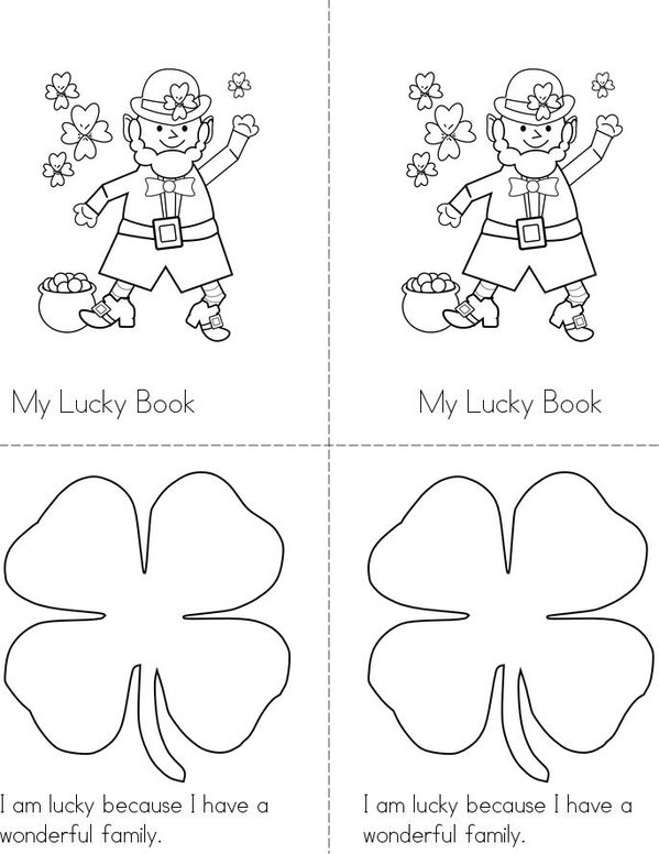 My St. Patrick's Day Lucky Story Mini Book - Sheet 1